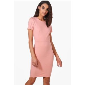 ASOS Dresses - NWT pink scuba chic midi dress